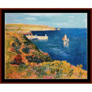 port eudy, ile de groix - moret cross stitch pattern by cross stitch collectibles