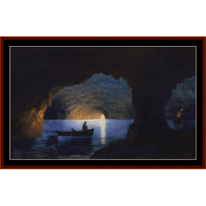 the blue grotto, 1841 - aivazovsky cross stitch pattern by cross stitch collectibles