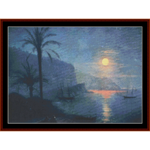 nice at night - aivazovsky cross stitch pattern by cross stitch collectibles