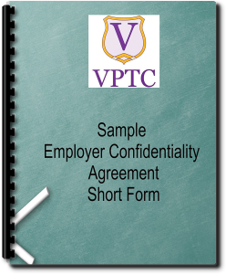 Sample Employer Confidentiality Agreement - Short Form | Documents and Forms | Legal