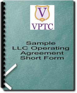 sample llc operating agreement - short form