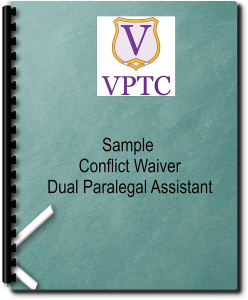 sample - conflict waiver dual paralegal assistant