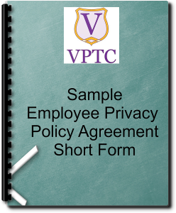 Sample Employee Privacy Policy Agreement - Short form | Documents and Forms | Legal