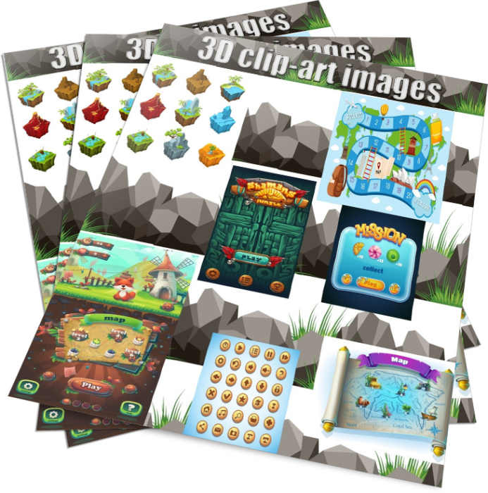 First Additional product image for - eBooks to read, fun activities bundle for kids plus minecraft inspired clipart, video game templates and board game inspired images