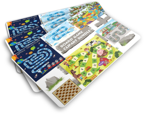Fourth Additional product image for - eBooks to read, fun activities bundle for kids plus minecraft inspired clipart, video game templates and board game inspired images