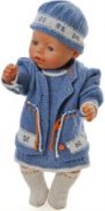 dollknittingpatterns 0171d linn kristin - kjole, bukse, jakke, lue og sokker-(norsk)