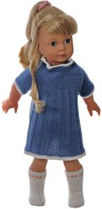 dollknittingpattern171d linn kristin -  dress, pants, jacket, hat and socks/shoes-(english)