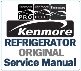Kenmore 795.74042 74043 74049 refrigerator service manual | eBooks | Technical
