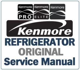 kenmore 501.78312 78319 refrigerator service manual