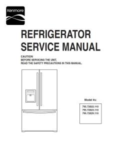 Kenmore 795.72022 72023 72029 refrigerator service manual | eBooks | Technical