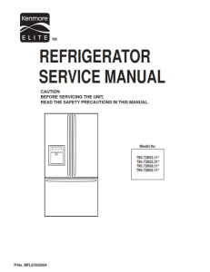 kenmore elite 795.72052 72053 72059 service manual