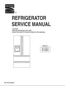 Kenmore 795 72182 72183 72189 (.21...models) service manual | eBooks | Technical