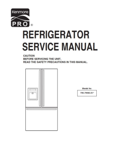 Kenmore 795.79983.510 refrigerator service manual | eBooks | Technical