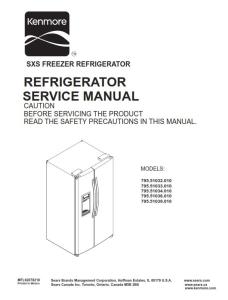 kenmore 795. 51032 51033 51034 51036 51039 (.010 models) service manual