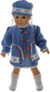 dollknittingpatterns 0171d linn kristin - robe, panty, veste, chapeau et chaussettes/chaussures-(francais)