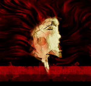 red haired woman edited