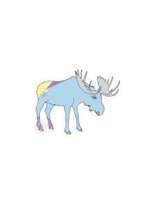 blue alaskan moose clip art