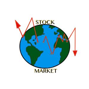 world stock market trending clip art