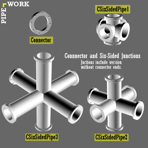 First Additional product image for - PIPE WORK for Game Dev (BLEND, DAE, FBX, OBJ)