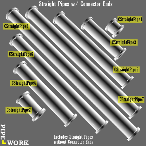 Fourth Additional product image for - PIPE WORK for Game Dev (BLEND, DAE, FBX, OBJ)