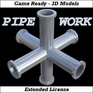 pipe work for game dev (blend, dae, fbx, obj)