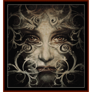 spirit woman - fantasy cross stitch pattern by cross stitch collectibles