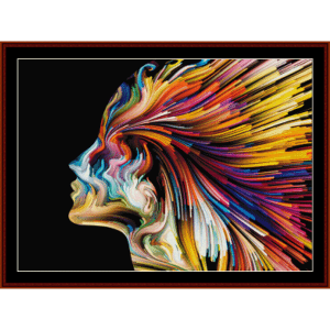 Mind Painting - Fantasy cross stitch pattern by Cross Stitch Collectibles | Crafting | Cross-Stitch | Wall Hangings