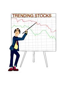 downward trending stock market clip art