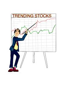 upward trending stock market or company stocks clip art