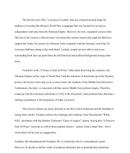 a peace to end all peace essay (7 pages