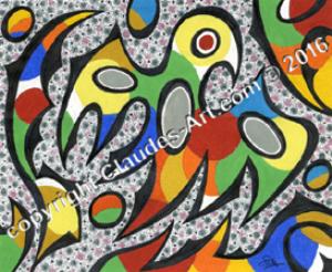 """"""" le petit oiseau des iles"""" : claude's art: dessin # 326 hd"""