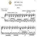 Ah mio cor,schernito sei, Low Voice in G Minor, G.F.Handel,Tablet Sheet Music. A5 (Landscape). Schirmer (1894)   eBooks   Sheet Music