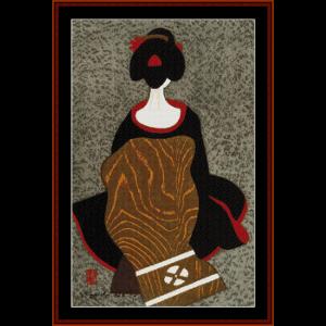 maiko - asian art cross stitch pattern
