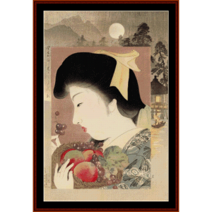 Unconcerned - Asian Art cross stitch pattern by Cross Stitch Collectibles | Crafting | Cross-Stitch | Wall Hangings