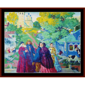Easter Day, 1917 - Kustodiev cross stitch pattern by Cross Stitch Collectibles | Crafting | Cross-Stitch | Other