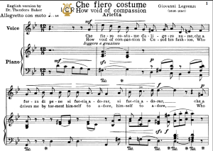 che fiero costume, medium voice in g minor, g.legrenzi. tablet sheet music. a5 (landscape). schirmer (1894)
