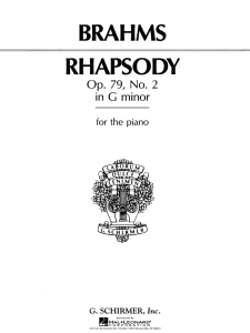 rhapsody no. 2 in g minor – brahms