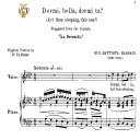 Dormi, bella, Medium Voice in A Flat Major, G.B.Bassani. For Mezzo, Baritone, Soprano. Tablet Sheet Music. A5 (Landscape). Schirmer (1894)   eBooks   Sheet Music