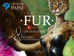 realistic fur. the brush set for painting realistic fur in clip studio paint