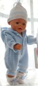 dollknittingpattern 172d simen - suit, hat, socks and blanket-(english)