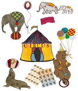 vintage animal circus clipart, scrabooking, images, cutouts
