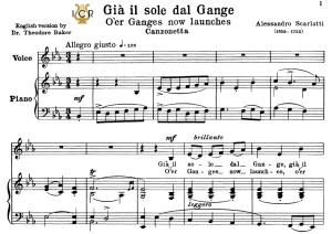già il sole dal gange, low voice in e flat major, a.scarlatti. for contralto, bass.tablet sheet music. a5 (landscape). schirmer (1894)