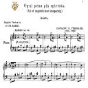Ogni pena più spietata, Medium-Low Voice in A Minor, G.B.Pergolesi. Tablet Sheet Music. A5 (Landscape). Schirmer (1894) | eBooks | Sheet Music