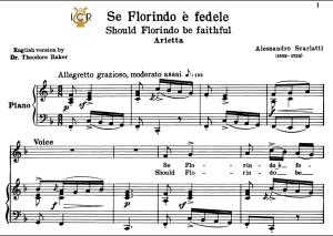se florindo è fedele, low voice in f major, a.scarlatti. for contralto, bass. tablet sheet music. a5 (landscape). schirmer (1894)