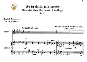se tu della mia morte, low voice in f minor, a.scarlatti. for contralto, bass. tablet sheet music. a5 (landscape).   schirmer (1894)