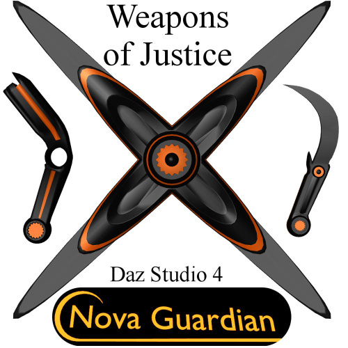 First Additional product image for - NOVA GUARDIAN Weapon Set for Daz Studio 4+