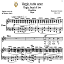 Vergin, tutto amor, Medium or High Voice in C Minor, F.Durante. For Soprano, Mezzo, Tenor. Tablet Sheet Music. A5 (Landscape). Schirmer (1894)   eBooks   Sheet Music