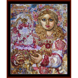 angel of the christmas cake - yumi sugai cross stitch pattern by cross stitch collectibles