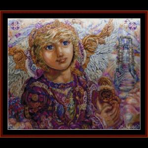 Guardian and Gabriel - Yumi Sugai cross stitch pattern by Cross Stitch Collectibles | Crafting | Cross-Stitch | Wall Hangings