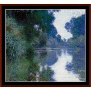 Morning on the Seine VI Monet cross stitch pattern by Cross Stitch Collectibles | Crafting | Cross-Stitch | Wall Hangings